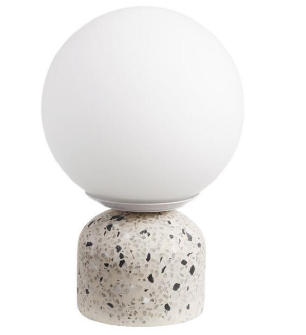 Modern Light fixture with Terrazzo base