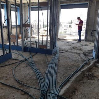 Something exciting is happening in Israel… my first International project!  All design for conjoined apartments was done in the States, and endless zooms with an awesome client and Israeli project manager to get this project on its feet. It's getting exciting, wall framing, plumbing preps and electrical are done. Gorgeous floor slab shipment from Italy arriving on Monday. Oh the views! Lots to do, more to come! #poeticmodernism® is going worldwide. #moderndesign #israel #jerusalem