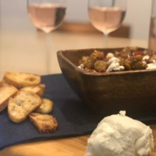Dear @sksappliances, Chef Nick Ritchie, @modenus @designhounds, I followed the recipe to a 'T' to make your Original Eggplant Caponata and Crostini.....so good! Thankyou so much for sending all the delicious supplies! To make it more special was the Napa Valley Rose Wine #gentlemansfarmer @designhounds @modenus #foodie