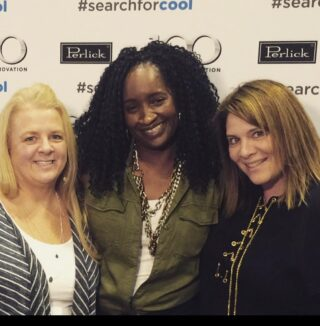 This picture came up as a memory.. Four years ago today we were together at the KBIS - Kitchen and  Bath Industry show out scouting out brands to see what's next in kitchen and bath design with @modenus @designhounds @kbis_official . Tonight we are having zoom cocktails together how perfect!  @marilyngrussell @time2design. Miss these times, nothing better than mixing friends, design and cocktails! #design #fridayfriends #kbis